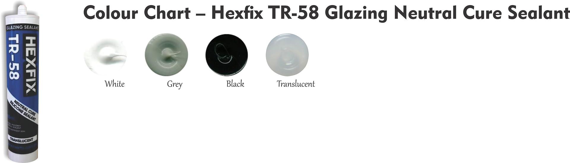 Colour Chart – Hexfix TR-58 Glazing Neutral Cure Sealant