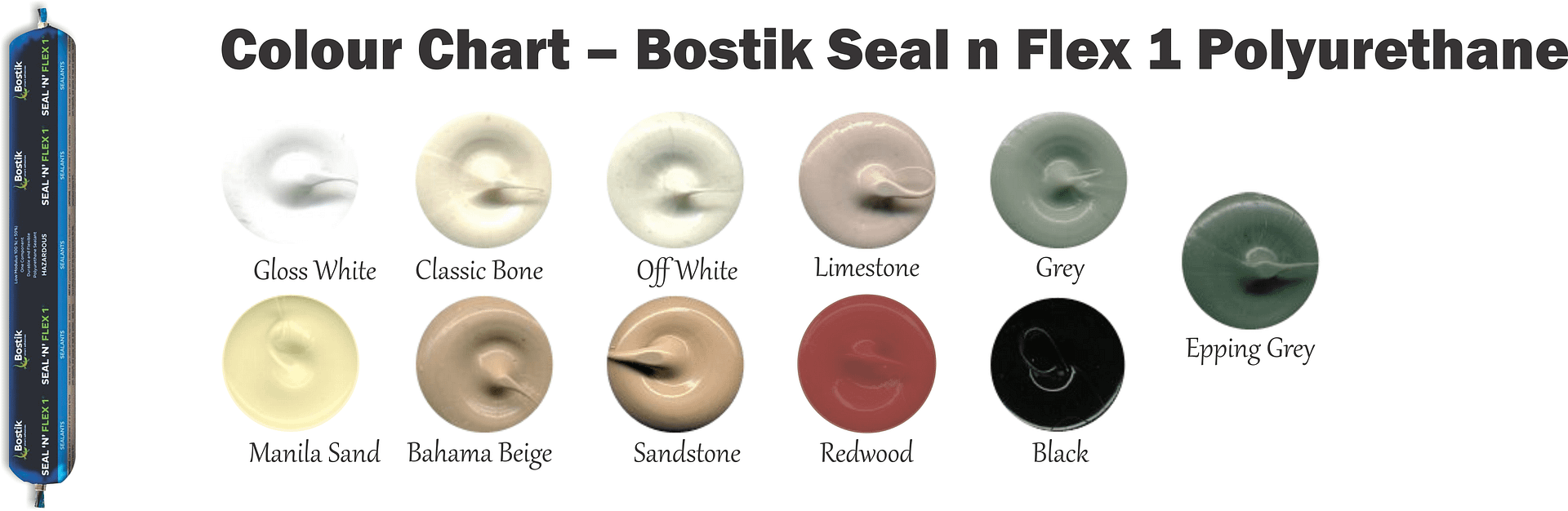 Colour Chart Bostik Seal n Flex 1 Polyurethane
