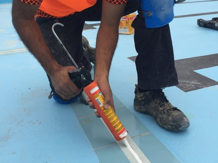 External Polyurethane to Pool Floor